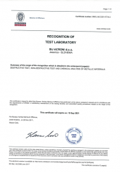 BV recognition of test laboratory 2017